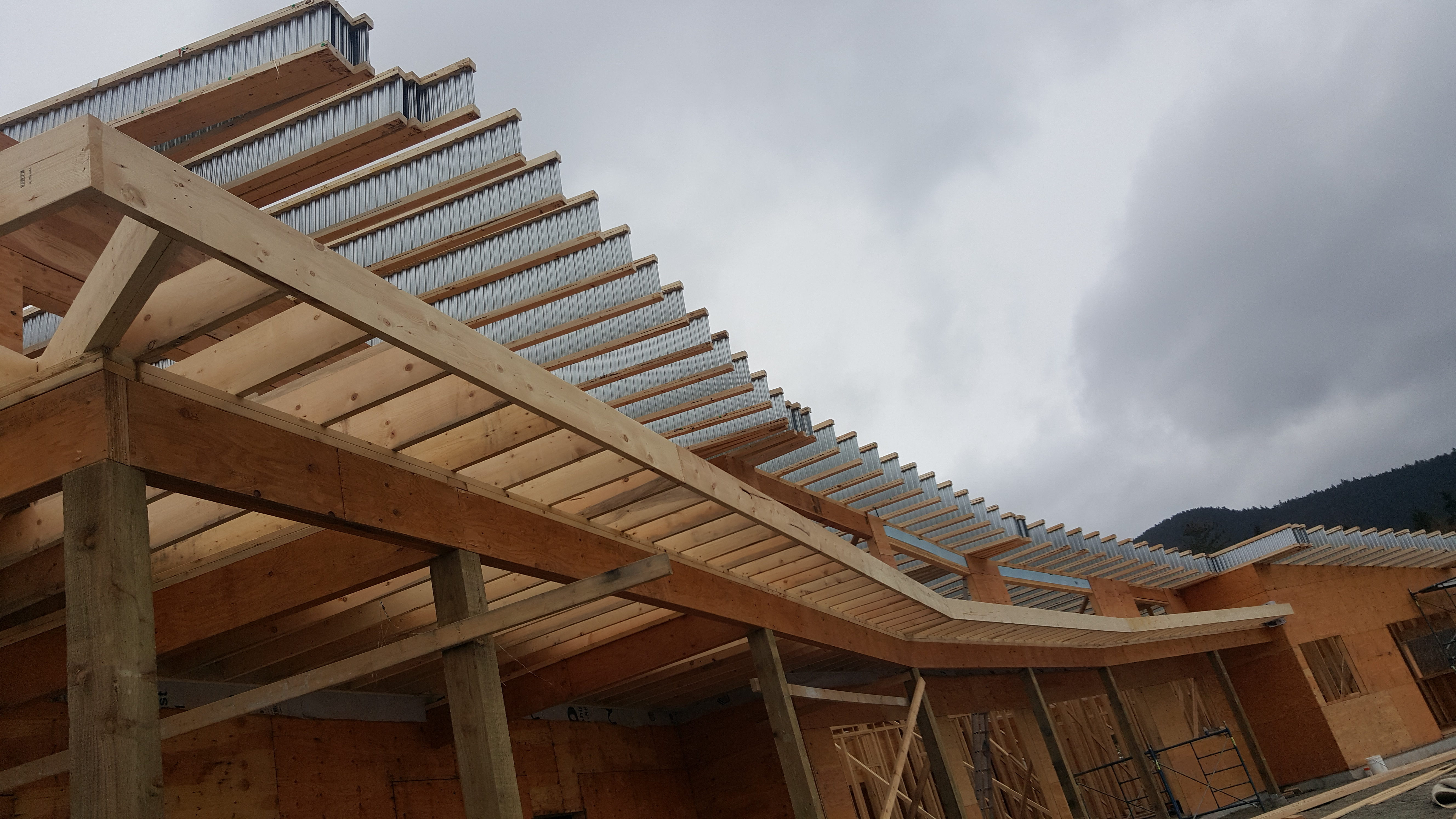 Curved 7 degree roof